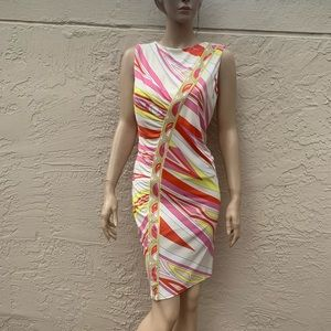 EMILIO PUCCI MULTICOLORED DRESS SZ 14